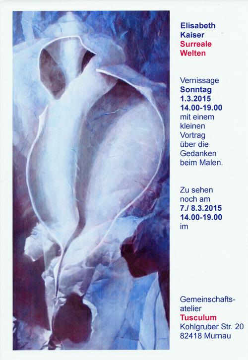 Plakat zu Elisabeth kaiser: 'Surreale Welten'