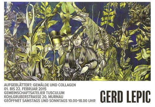 Plakat zu Gerd Lepic: 'Aufgeblättert: Gemälde und Collagen'