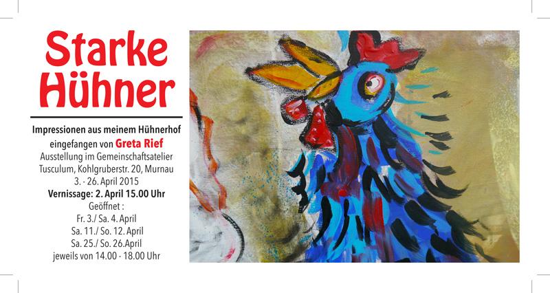 Plakat zu Gerda Rief: 'Starke Hühner'