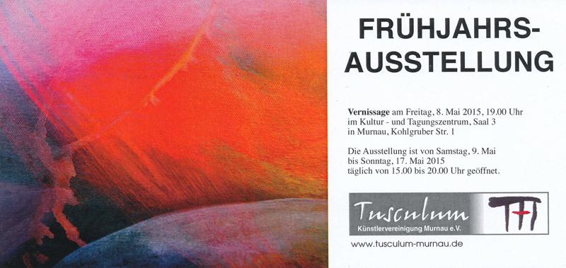 Plakat zur Frühjahrsaustellung im Kultur- und Tagungszentrum Murnau