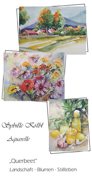 Ausstellung von Aquarellen von Sybille Kölbl