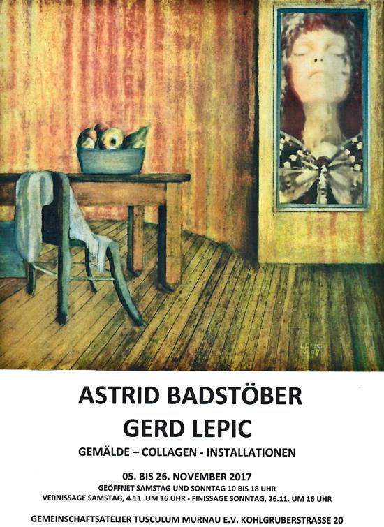 Gemälde, Collagen, Installationen der Künstler Astrid Badstöber und Gerd Lepic