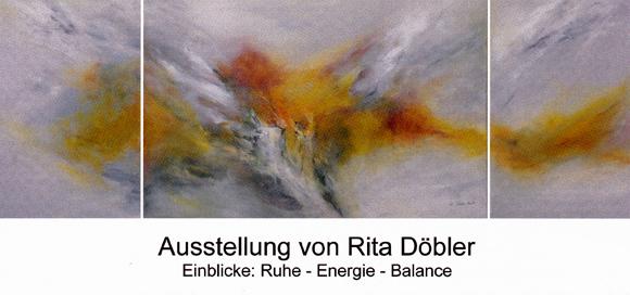Plakat zur Ausstellung von Rita Döbler
