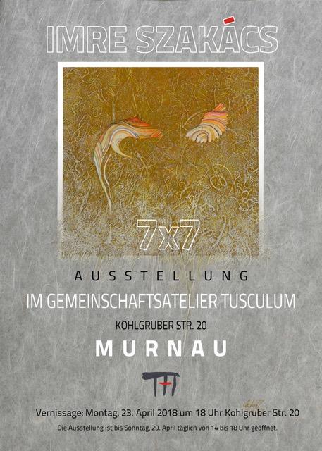 Plakat zur Ausstellung von Imre Szakacs