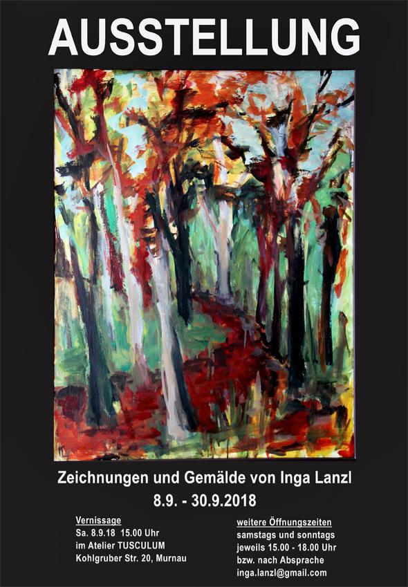 Plakat zur Ausstellung von Inga Lanzl