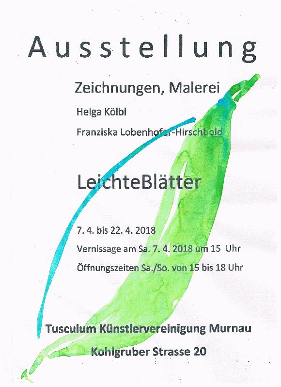 Plakat zur Ausstellung von Helga Kölbl und Franziska Lobenhofer-Hirschbold