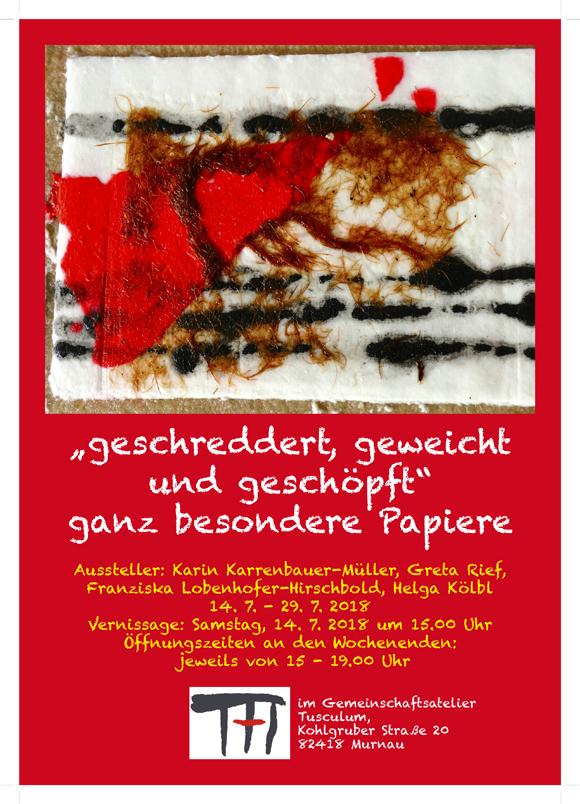 Plakat zur Papier-Ausstellung