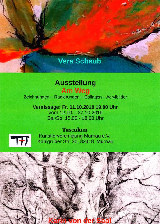 Plakat zur Ausstellung von Vera Schaub und Karin von der Saal
