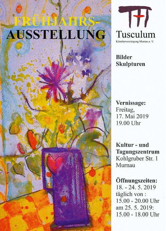 Plakat zur Frühjahrsausstellung in Murnau