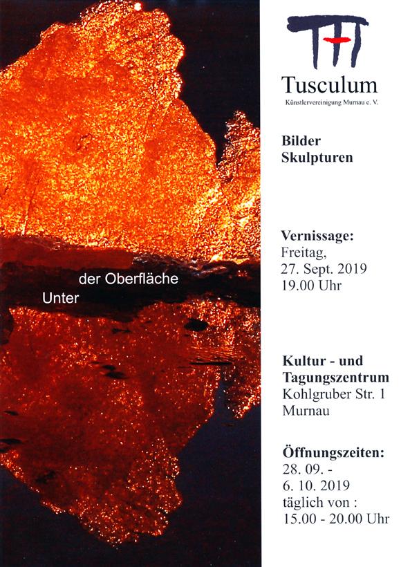 Plakat zur Herbstausstellung in Murnau