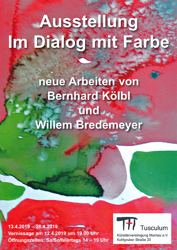 Plakat zur Ausstellung Kölbl und Bredemeyer