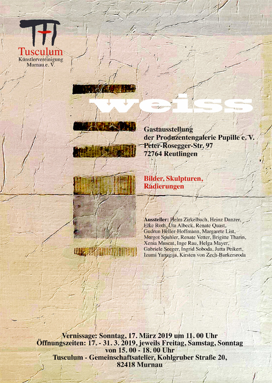 Plakat zur Ausstellungs der Produzentengalerie Pupille e. V. aus Reutlingen