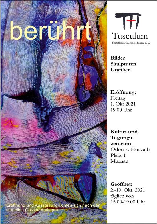 Plakat zur HERBSTAUSSTELLUNG der Künstlervereinigung Murnau e.V. Tusculum