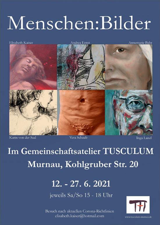 Plakat zur Ausstellung Menschen|Bilder des Tusculum Murnau