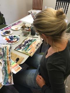 Beispiele aus dem Kurs Aquarellmalerei