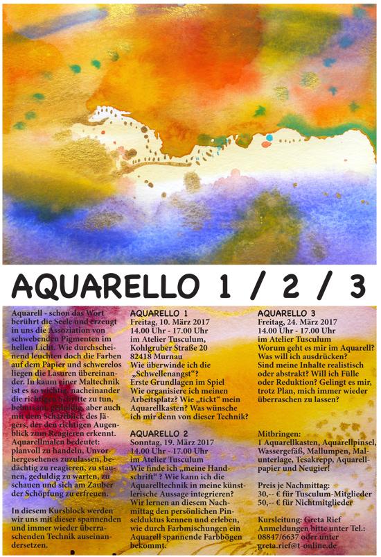Aquarellkurs im Gemeinschaftsatelier