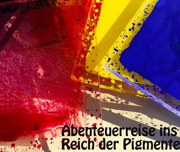Plakat zum Pigmentekurs von Greta Rief