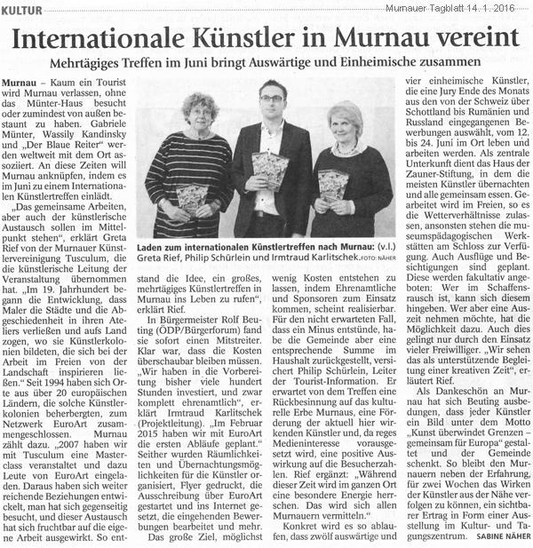 europäisches Künstlertreffen in Murnau