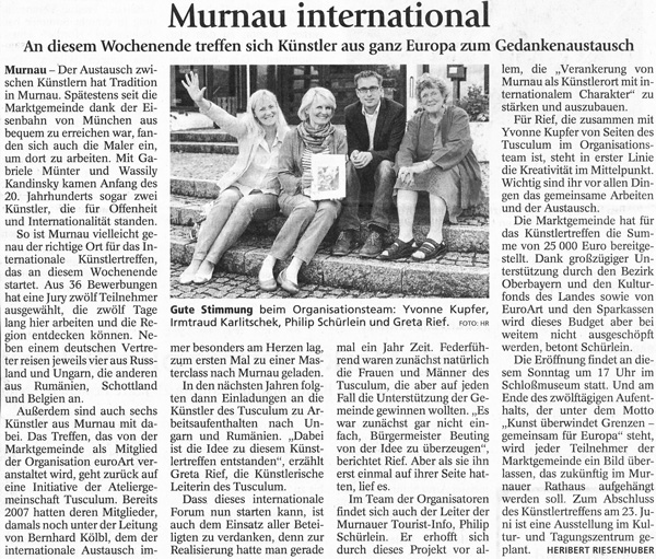 Internationale Künstler in Murnau vereint